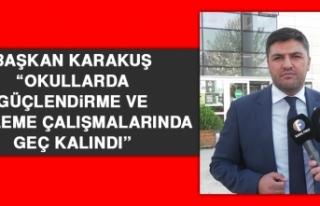 Karakuş: Okullarda Güçlendirme ve Yenileme Çalışmalarında...