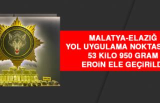 Malatya-Elazığ Yol Uygulama Noktasında, 53 Kilo...