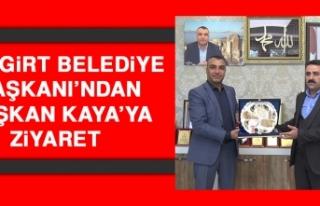 Mazgirt Belediye Başkanı'ndan Başkan Kaya'ya...