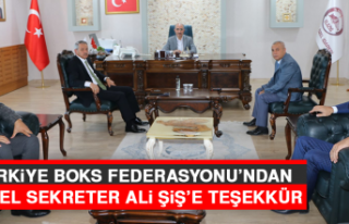 Türkiye Boks Federasyonu'ndan Genel Sekreter Ali...
