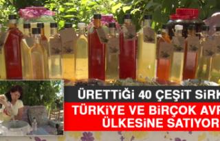 Ürettiği 40 Çeşit Sirkeyi Türkiye ve Birçok...