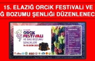 15. Elazığ Orcik Festivali ve Bağ Bozumu Şenliği...