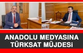 Anadolu Medyasına TÜRKSAT Müjdesi