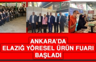 Ankara'da Elazığ Yöresel Ürün Fuarı Başladı