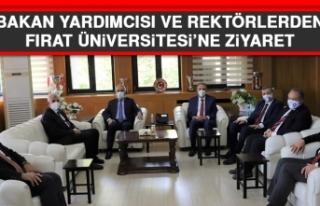 Bakan Yardımcısı ve Rektörlerden Fırat Üniversitesine...