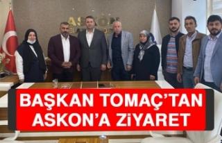Başkan Tomaç'tan ASKON'a Ziyaret