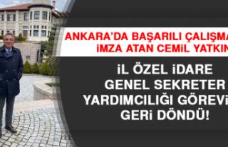 Cemil Yatkın, İl Özel İdare Genel Sekreter Yardımcılığı...