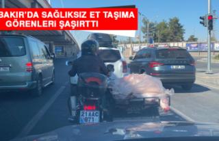 Diyarbakır'da Sağlıksız Et Taşıma Görenleri...