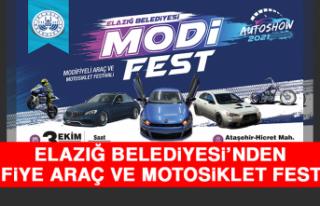 Elazığ Belediyesi'nden Modifiye Araç ve Motosiklet...