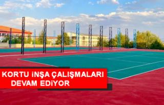 Elazığ'da Tenis Kortu İnşa Çalışmaları...