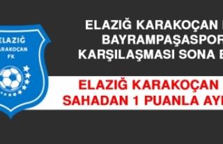 Elazığ Karakoçan FK Sahadan 1 Puanla Ayrıldı