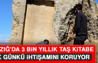 Elazığ'da 3 Bin Yıllık Taş Kitabe, İlk Günkü...
