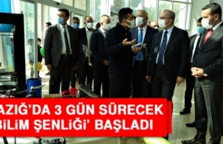 Elazığ'da 3 Gün Sürecek 'Bilim Şenliği'...
