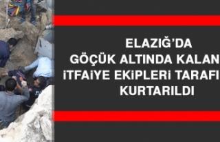 Elazığ'da Göçük Altında Kalan İşçi İtfaiye...