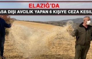 Elazığ'da Yasa Dışı Avcılık Yapan 6 Kişiye...