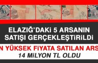 Elazığ'daki 5 Arsanın Satışı Gerçekleştirildi