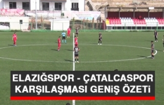 Elazığspor - Çatalcaspor Karşılaşması Geniş...