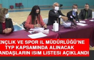 Gençlik ve Spor İl Müdürlüğü'ne TYP Kapsamında...