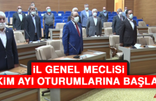 İl Genel Meclisi, Ekim Ayı Oturumlarına Başladı