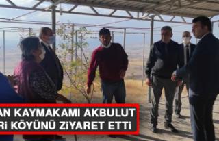 Keban Kaymakamı Akbulut, Nimri köyünü ziyaret...