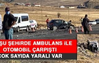 Komşu Şehirde Ambulans İle Otomobil Çarpıştı