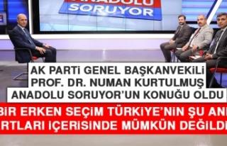 Kurtulmuş: Bir Erken Seçim Türkiye'nin Şu Anki...