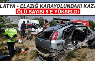 Malatya - Elazığ Karayolundaki Kazada Ölü Sayısı...