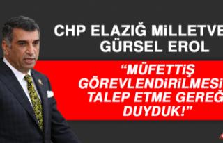 Milletvekili Erol: Müfettiş Görevlendirilmesini...