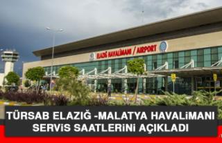 TÜRSAB, Elazığ -Malatya Havalimanı Servis Saatlerini...