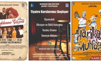 Tiyatro kursları ve oyunlarla dolu dolu bir sezon