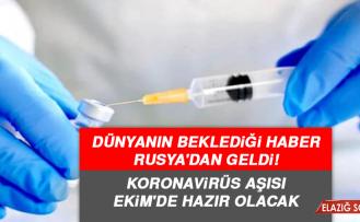 Dünyanın beklediği haber Rusya'dan geldi! Koronavirüs aşısı Ekim'de hazır olacak