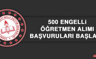 500 Engelli Öğretmen Alımı Başvuruları Başladı