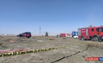 Konya'da Türk Yıldızları uçağı düştü