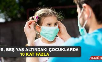 Virüs, Beş Yaş Altındaki Çocuklarda 10 Kat Fazla
