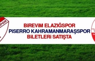 B.Elazığspor - Piserro K.Maraşspor Biletleri Satışta
