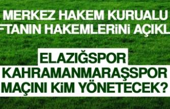Elazığspor - Kahramanmaraşspor Maçını Kim Yönetecek?
