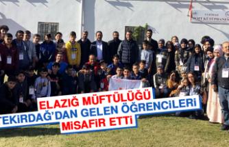 Elazığ Müftülüğü, Tekirdağ'dan Gelen Öğrencileri Misafir Etti