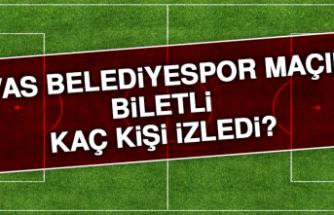 Sivas Belediyespor maçını biletli kaç kişi izledi?