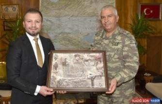 AA Erzurum Bölge Müdürü Bekar'dan 9. Kolordu Komutanlığına ziyaret
