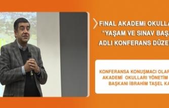 """FİNAL AKADEMİ OKULLARINDA """"YAŞAM VE SINAV BAŞARISI"""" ADLI KONFERANS DÜZENLENDİ"""