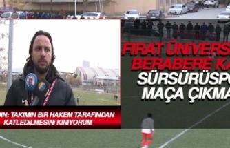 Fırat Üniversitesi Berabere Kaldı, Sürsürüspor Maça Çıkmadı