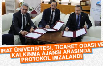 Fırat Üniversitesi, Ticaret Odası ve Kalkınma Ajansı Arasında Protokol İmzalandı…