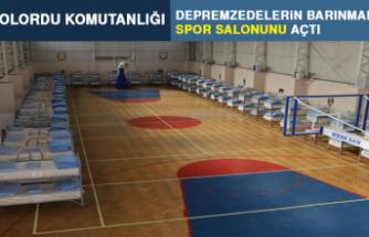 8'inci Kolordu Komutanlığı Depremzedelere Spor Salonunu Açtı