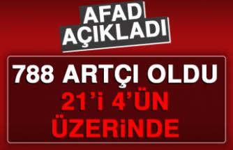 AFAD: 788 Artçı Deprem Meydana Geldi