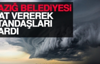 Elazığ Belediyesi Saat Vererek Vatandaşları Uyardı
