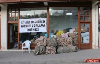Erzurum'dan Elazığ ve Malatya'daki depremzedelere tır dolusu yardım malzemesi gönderildi