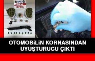 Otomobilin Kornasından Uyuşturucu Çıktı