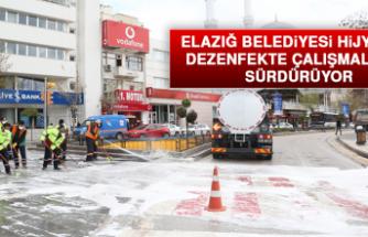 Elazığ Belediyesi Hijyen ve Dezenfekte Çalışmalarını Sürdürüyor