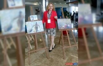 Ressam Güher, uluslararası sergiye katıldı