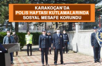 Karakoçan'da Polis Haftası Kutlamalarında Sosyal Mesafe Korundu